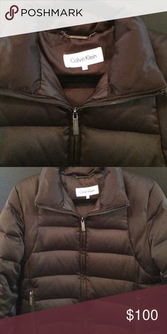 Calvin Klein down puffer jacket Like new condition, duck down puffer jacket. Authentic Calvin Klein. Zipper pockets on both sides on outside and one inside zip pocket. Calvin Klein Jackets & Coats Puffers
