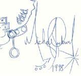 1998 マイケルは常に 自分の記憶がいつまでも残って欲しいと考えていました。 彼はいつも、『写真やサインは覚えていないかもしれない。だけど1998はいつまでも覚えているだろう?』と考えました。 彼はとても心理学的でした。その数字が人々の好奇心を刺激し、ミステリアスさを増したのは確かです 777 初めの7は、マイケルが7番目の子供であることを指しています。 残りの77は、MJが生まれた年1958の2ケタを足した 19+58=77 から来ています   CTE 私たち衣装担当が作った最初のシャツには何の文字もありませんでした。それを見たマイケルが肩の部分を指し、『ブッシュ、なにか足りないな!文字をいくつかいれないか?』と言ったのです。 デニスと私は帽子の中にアルファベット全部を書いたものを入れて、その中から3つ取り出したのが、C T Eだったのです。これは世界中のファンの間で 暗号のように何か意味があると思われました。  でもマイケルは後になって 本当にこれに意味を持たせました。 よく彼は人を呼ぶ時、その仕事にちなんだもので呼びました。 たとえば私を
