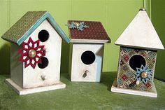 Holiday birdhouses
