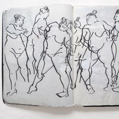 John Garcia - lovely line drawings of moving poses - great for fashion illustration research