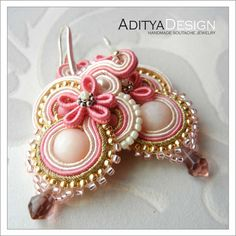 Soutache earrings, OOAK jewelry by AdityaDesign, Bahira Collection