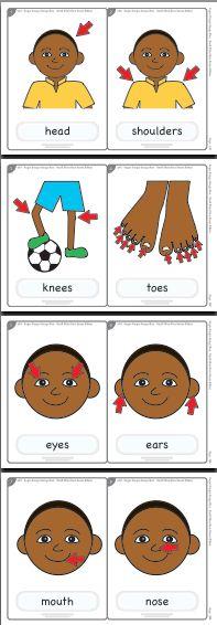 head shoulders knees and toes worksheet - Pesquisa Google