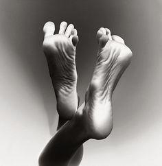 Feet - Mystery of the body - B&W Art photography.