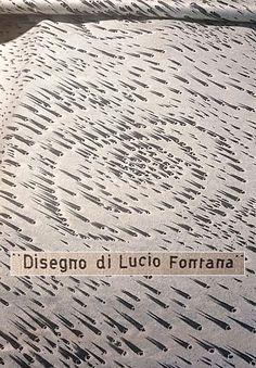 Catawiki, pagina di aste on line  Lucio Fontana per JSA - Pezza di tessuto 'Concetto Spaziale'