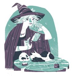 On my twitter I offered a few commission spots (now closed) for witchsonas. I asked for photos and I would read your aura to the best of my ability to determine your Witchsona. These were two of them. Lots of fun.Apparently if you take a photo of your pet I'm going to draw it. Dems the breaks.
