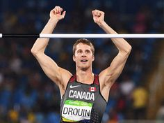 Drouin wins gold in men's high jump RIO DE JANEIRO - Canada's Derek Drouin won the gold medal in the men's high jump at the Rio Olympics on Tuesday, brimming with confidence as he laid down a near-perfect performance. Drouin didn't miss a single attempt en route to winning with a season-best jump of two metres 38 centimetres.