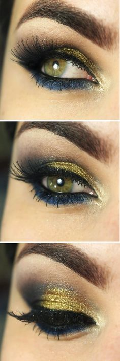 Gold and Blue Everyday Makeup Tutorials