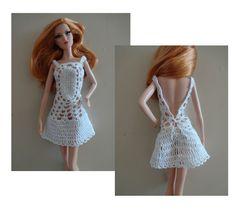 Vestido blanco en crochet. Hilo de algodon