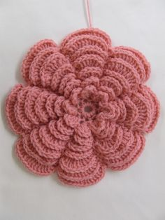 """A Nice Bunch of Flowers"" one of the flowers in the set; pattern at www.SkerinKnittingandCrochet.com"