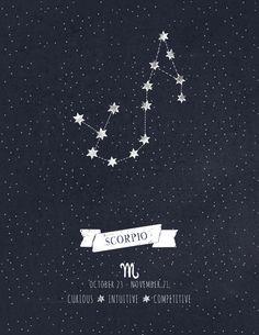 Scorpio Constellation Astrology Art Art Print
