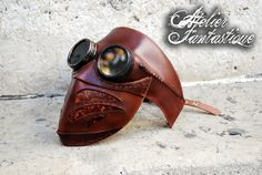 Steampunk goggles leather mask Arakis by AtelierFantastique.deviantart.com on @deviantART