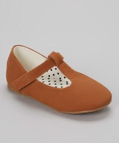 Look what I found on #zulily! QQ Girl Brown Lovely T-Strap Shoe by QQ Girl #zulilyfinds