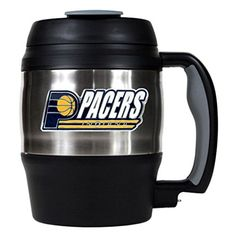 NBA Indiana Pacers 52Ounce Stainless Steel Macho Travel Mug with Bottle Opener *** See this great product.