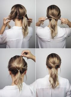 10 office hairstyles you should try if you& a lazy girl - . - 10 office hairstyles you should try if you& a lazy girl – must are - Office Hairstyles, Up Hairstyles, Braided Hairstyles, Easy Work Hairstyles, Simple Ponytail Hairstyles, Ponytail Hairstyles Tutorial, Hairstyle Ideas, Simple Hairstyles For Medium Hair, Waitress Hairstyles