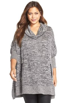 MELISSA MCCARTHY SEVEN7 Cowl Neck Poncho Top (Plus Size) available at #Nordstrom