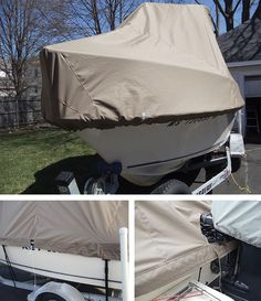 Make a cover for any size boat! This photo was submitted by Kevin Lowe. Boat Crafts, Water Crafts, Boating License, John Boats, Wooden Boat Building, Boat Covers, Boat Design, Small Boats, Boats