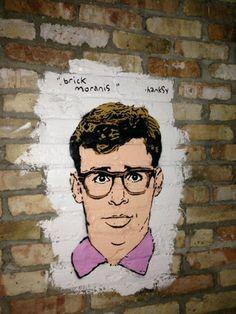 Street art hilarious Hanksy......Portrait Rick Moranis