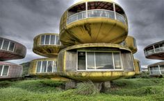 Pod City of San Zhi - Pod-shaped buildings built in Taiwan in 1978. Was intended to serve as a vacation resort but left abandoned due to investment loss and supernatural activities.