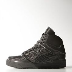 size 40 24646 53cb3 Original Baskets Adidas ObyO x Jeremy Scott Wings Molded pour Homme Noir  Soldes Pas Cher Jeremy
