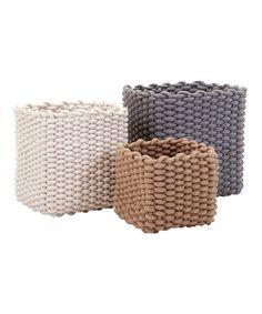 IMAX Natural Rope Baskets - Set of Three   zulily