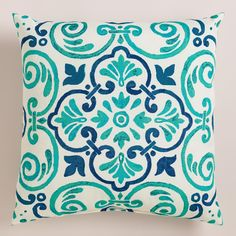 Featuring an exclusive medallion design, our exclusive toss pillow is made of high-performance polyester for long-term outdoor use. >> #WorldMarket #OutdoorLiving #WorldMarketLove4Outdoors