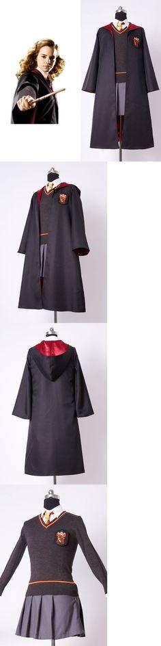 Unisex 86207: Harry Potter Hermione Granger Cosplay Costume Uniform Gryffindor Adult Dress Set -> BUY IT NOW ONLY: $79.99 on eBay!