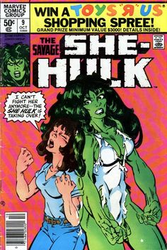 The Savage She-Hulk #9, october 1980, cover by Michael Golden.