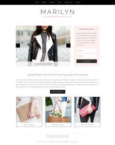 Marilyn fashion blog WordPress theme - Feminine WordPress Themes