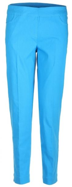 """Love golf outfits? Here's our Electric Blue SlimSation Ladies  29"""" Pull On Golf Ankle Pants! Check out more of these at #lorisgolfshoppe lorisgolfshoppe.com"""