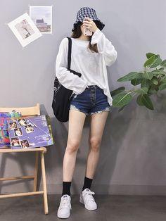 Pin by Kaye Marie on outfit ideas in 2019 Korean Girl Fashion, Ulzzang Fashion, Korea Fashion, Cute Fashion, Asian Fashion, Daily Fashion, Korean Street Fashion Summer, Girls Fashion Clothes, Girl Outfits