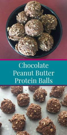 If you're looking for a healthy recipe that's perfect not only for kids but for your entire family then look no further than these no bake chocolate peanut butter protein balls. This yummy (and healthy) snack only has five ingredients and is super easy to Healthy Protein Snacks, Protein Bites, Healthy Desserts, Healthy Recipes, High Protein, Arbonne Protein Bars, Healthy Kids, Healthy Meals, Healthy Eating
