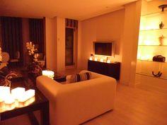 Decoracion suite exclusivamente con velas