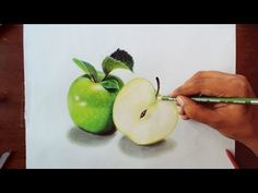 ▶ Drawing Green apples - Prismacolor pencils - YouTube