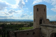 View from Spello, Umbria, Italy