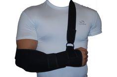 Black Padded Arm/Elbow/Shoulder Sling Support Splint Strap Pain ...