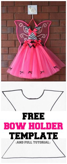 Download tutu hair bow holder template free, get tutu hair bow holder pattern and begin your DIY tutu bow holder today, bodice template by original creator