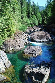 Leiner River, Tahsis, North Vancouver Island, British Columbia, Canada