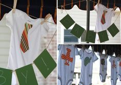 iron on onsies as an activity @ a baby shower. good for those who are artistically challenged :).