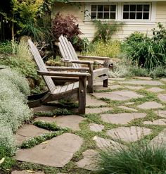 Love this patio floor and aged garden