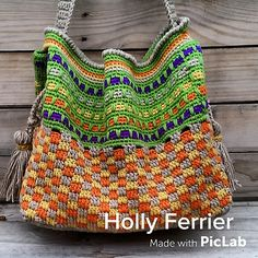 Inspiration - Ravelry: Tuscany tote by Holly Ferrier