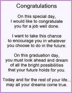 poems for graduation...  #Graduation #poems Graduation Quotes For Daughter, High School Graduation Quotes, Graduation Poems, High School Quotes, 8th Grade Graduation, Graduation Diy, Preschool Graduation Speech, Graduation Card Messages, Graduation Message Quotes