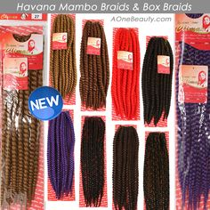New Arrivals! Climax Havana Mambo Braids/Box Braids http://www.aonebeauty.com/braids/?sort=newest ‪#‎braids‬ ‪#‎hairextensions‬ ‪#‎beauty‬ ‪#‎hairstyle‬ ‪#‎mambo‬ ‪#‎havana‬ ‪#‎boxBraid‬
