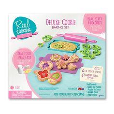 "Real Cooking Deluxe Cookie Baking Set - Skyrocket Toys - Toys ""R"" Us Real Baking, Baking Set, Craft Kits For Kids, Gifts For Kids, Easy Bake Ultimate Oven, Minnie Mouse Toys, Cooking Toys, Galaxy Cake, Custom Cookie Cutters"