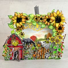 Heartfelt Creations - Rise and Shine Wink Of Stella, Card Making Tutorials, You Are The World, Farm Yard, Heartfelt Creations, Flower Shape, Paper Design, Note Cards, Cardmaking