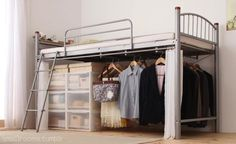 New Diy Storage Ideas For Teens Organizers Loft Beds 32 Ideas Under Bed Organization, Bed In Closet, Dorm Life, College Dorm Rooms, Home Bedroom, Map Bedroom, Bedrooms, Dorm Decorations, Small Spaces