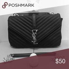 3ae8c86ee3eec Black Fashion Handbag YSL inspired