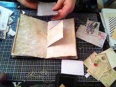 Tutorial Pt. 3 - Tea Dyed Paper (finally!) and book progress - YouTube