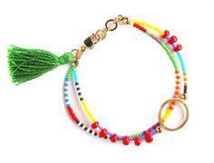 Cerchio d'oro bracciale Double Strand di HippieThings su Etsy