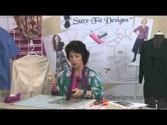 How to Shorten a Sleeve pattern - Sure-Fit Designs™ - #surefitdesigns http://www.sfdlearningcenter.com/Dress-Videos-RefiningTheFit.html www.surefitdesigns.com