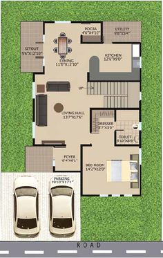 New house interior luxury layout 16 ideas - Upload Box 2bhk House Plan, Model House Plan, Duplex House Plans, Duplex House Design, Dream House Plans, Small House Plans, Small House Layout, House Layout Plans, House Layouts
